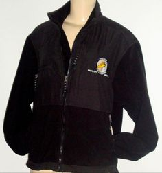 EXCELLENT Black Jacket w/ Fleece PELICAN PUB & BREWERY Oregon Womens SMALL Coat #ColoradoTimberlineAuthenticOuterwear #FleeceJacket