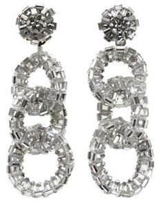 A Pair of Coppola e Toppo Shoulder Duster Crystal Earclips, probably 1960s,