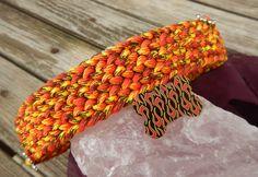 """Hund: Halsbänder - Hundehalsband """"Feuer & Flamme"""" mit Hundemarke  - ein Designerstück von Gluecksmarken bei DaWanda"""