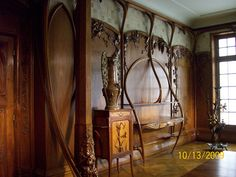 musee d'orsay - art nouveau woodwork