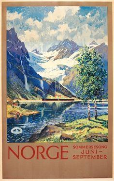 Norway Summer Song, 1920s - original vintage poster by Benjamin Blessum
