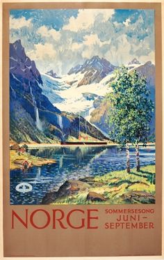Norway Summer Song, 1920s - original vintage poster by Benjamin Blessum listed on AntikBar.co.uk