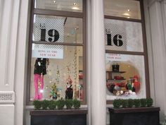 kate spade holiday window display. love the type!