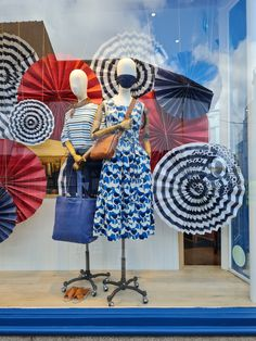 Paper Parasol Fans, inspired by the Cornish Riviera Window Displays, Fans, Windows, Inspired, Paper, Crafts, Inspiration, Home Decor, Display Cases