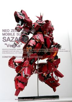"""NEO ZEON MSN-04 MOBILE SUIT SAZABI """"Ver.Ka""""  FULL HATCH OPEN VER...KONG7428"""