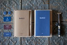 The latest project from Barcelona-based design studio Ample is Barco, a creative grill and wine bar tucked away in the port quarter of the Black Sea city of Novorossiysk, Russia. Brand Identity Design, Corporate Design, Logo Design, Corporate Identity, Restaurant Identity, Restaurant Menu Design, Layout Design, Print Design, Menu Layout