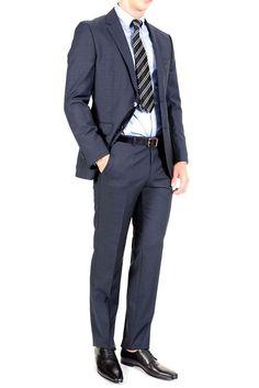 New Hugo Boss The James4/Sharp6 Reg Fit Blue Two Button Sports Coat Blazer 46 R #HugoBoss #TwoButton