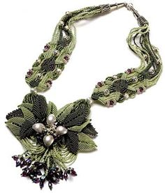 Jeanne Wertman - Master in the bead work and micromakrame tell about her creations