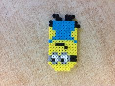 Minion from Despicable Me perler bead by Amanda Collison