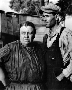 """Jane Darwell and Henry Fonda. """"The Grapes Of Wrath"""" 1940, directed by John Ford."""