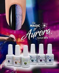 I LOVE Gelish (gel nail polish), esp the Aurora Collection!!