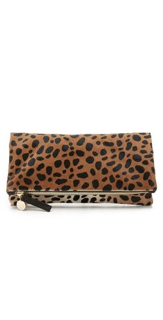 Clare V. Supreme Haircalf Fold Over Clutch | SHOPBOP SAVE UP TO 25% Use Code: GOBIG16