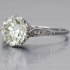 Edwardian Engagment Ring, 2.19 carats