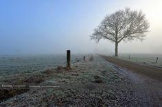 Zonsopkomst in de mist omgeving Apeldoorn, Voorst en Klarenbeek