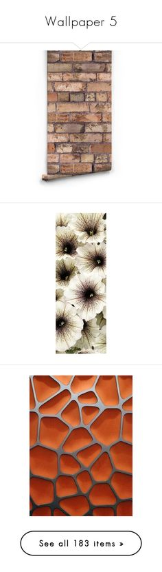 """""""Wallpaper 5"""" by mysfytdesigns ❤ liked on Polyvore featuring home, home decor, wallpaper, backgrounds, walls, brick, wallpaper samples, faux wallpaper, brown home decor and sample wallpaper"""