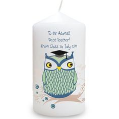 Personalised Teachers Candle  - Mr Owl  from Personalised Gifts Shop - ONLY £9.95