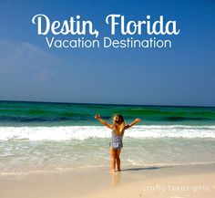 Vacation Destination: Destin, Florida - things to do, places to eat Need A Vacation, Vacation Places, Girls Vacation, Vacation Destinations, Vacation Trips, Dream Vacations, Vacation Spots, Family Vacations, Destin Florida Vacation