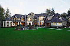 Craftsman Style House Plan - 5 Beds 5.5 Baths 7400 Sq/Ft Plan #132-182 Front Elevation - Houseplans.com