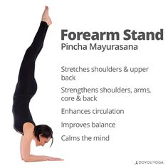 So many benefits for turning upside down   Why do you love to practice Forearmstand?