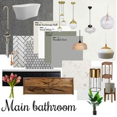 Main bathroom Interior Design Mood Board by Mood Board Interior, Interior Design Boards, Bathroom Interior Design, Bathroom Staging, Bathroom Remodeling, Interior Design Presentation, Relaxing Bathroom, Bathroom Inspiration, Decoration