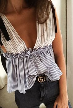 #summer #fashion / peplum top