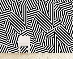 "Maison21 ""Memphis"" wallcovering in Black & White"