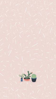 Cactus Girl Pastel iPhone Home Wallpaper @PanPins