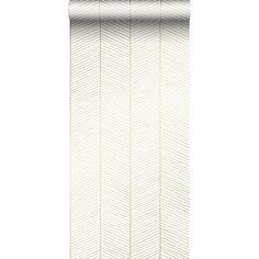 behang visgraat-motief zwart en goud - visgraat behang - behangprints   ESTAhome Terrazzo, Curtains, Black And White, Petra, Projects, Gold, Happy, Home Decor, Art Deco