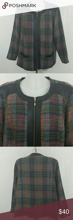 "Beautiful Jacket by C.J. Banks Beautiful Jacket by C.J. Banks. In great condition. Size 2x.  Bust 52"" Length 29"" Christopher & Banks Jackets & Coats"