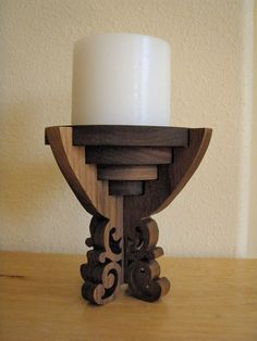 Wooden Cup Candleholder by PattisWooderland on Etsy, $25.00