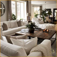 heartwarming living room decor and 12 tips for contemporary living room deco. Living Room Decor Cozy, New Living Room, Interior Design Living Room, Home And Living, Living Room Designs, Cozy Living Room Warm, Small Living, Cream Living Rooms, Neutral Living Rooms