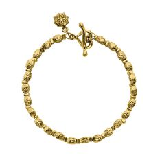 18ct Gold Vermeil Hammered Kube Nomad Bracelet, Jewellery - Dower & Hall, London
