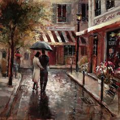 Brent Heighton Romantic Stroll painting is shipped worldwide,including stretched canvas and framed art.This Brent Heighton Romantic Stroll painting is available at custom size. Art Romantique, Canadian Painters, Umbrella Art, Small Umbrella, Walking In The Rain, Canvas Prints, Art Prints, Canvas Art, Tile Art