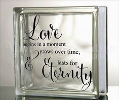 Love begins in a moment grows over time and by VinylDecorBoutique