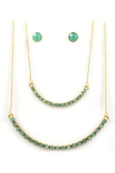 Iridescent Minty Oli Necklace Set | Awesome Selection of Chic Fashion Jewelry | Emma Stine Limited