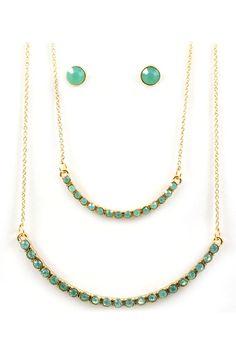 Iridescent Minty Oli Necklace Set | Awesome Selection of Chic Fashion Jewelry | Emma Stine Limited