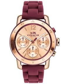 Love love love!  Coach Watch in Rose Gold and Black Cherry