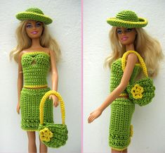 "Barbie dress ""Green and happy"" 