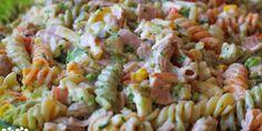 Studený cestovinový šalát - Powered by Slovak Recipes, Russian Recipes, Cooking Recipes, Healthy Recipes, Healthy Food, Fusilli, Pasta Salad, Salads, Sandwiches