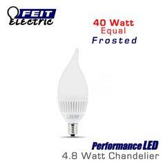 FEIT PerformanceLED E12 Base Candelabra Frosted - 4.8 Watt - 300 Lumens - Warm White (3000K) - 40 Watt Equal