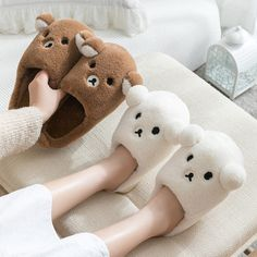 Our functional TPR Outsole Bear Slippers are not only cute, but they're durable too. Each set of slippers offers an adorable embroidered face with ears and a TPR sole that is suitable for wearing them outside if needed. Gift the TPR Outsole Bear Slippers in pink, blue, or white color options. Bear Slippers, Cute Slippers, Cool Gifts, Unique Gifts, Buy Puppies, Apollo Box, Bedroom Slippers, Winter Slippers, Love Bear
