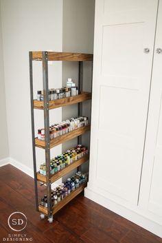 Rolling Paint Storage Craft Organization Idea   Clever Organizer