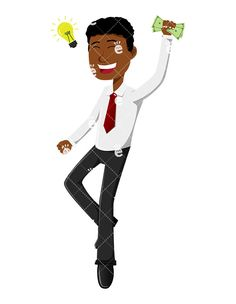 A Black Man Having A Great Idea While Holding Some Money:  #abundance #abundant #affiliate #affluent #african #african-american #american #black #boss #business #businessidea #businessman #capitalist #career #cartoon #cash #CEO #character #clipart #company #conor #corporate #corporation #dollars #drawing #economical #economy #enterprise #entrepreneur #euphoric #executive #finance #financial...