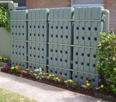 vertical rainwater containment system