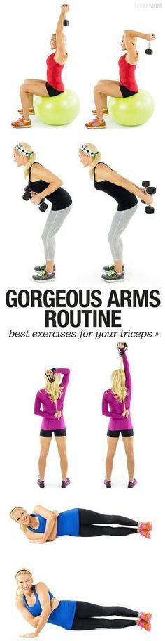 A dynamic workout to get toned and lean arms. Minimal equipment is required in this fitness routine. Build muscle and get strong with these effective exercises for the upper body.