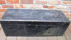 Vintage Industrial Distressed Black Wood Tool by PortlandiaRevibe