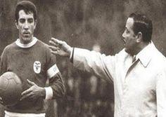José Augusto e Otto Glória. O treinador impôs regras que mudaram a rotina benfiquista.