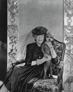 Publication: House & GardenImage Type: PhotographDate: May Lady Mendl Elsie de Wolfe with her poodle. Antique Photos, Vintage Photographs, Vintage Photos, Elsie De Wolfe, Winter Scenery, Vintage Dog, Old Antiques, Dog Photos, Old Pictures