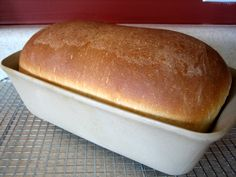 American Sandwich Bread by Brown Eyed Baker. This is what I make for my family for all our bread now. Instead of using only All-Purpose-Flour, I use 1 c. each APF, Whole Wheat, and Bread Flour. And 1/2 cup Flax Seed. Mix it up on Dough Cycle of bread machine and follow rest of directions as recipe says. Sometimes I use molasses instead of honey.