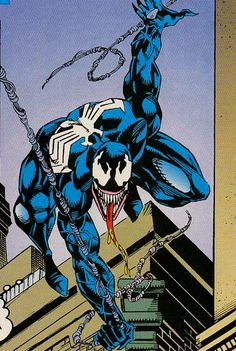 Venom - Tom Lyle (Pencils) Hanna Rubinstein (Inks) Ed Lazellari (Colors) Comics Spiderman, Venom Comics, Marvel Venom, Marvel Villains, Marvel Art, Marvel Heroes, Marvel Comic Character, Comic Book Characters, Marvel Characters